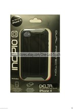 INCIPIO Dual Protection DELTA Silicone/Rubber FOR iPHONE 4 Black+CLEANIN... - £5.31 GBP