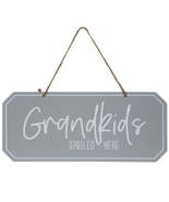 Grandkids Spoiled Here Metal Wall Decoration Home Decor - $21.97