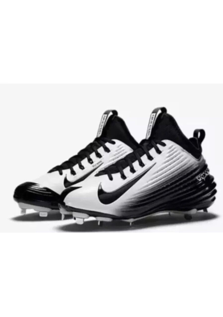 54569d7d4d4 S l1600. S l1600. Previous. Nike Lunar Trout II Mid Baseball Cleats Metal  807127 010 Black White Size 11