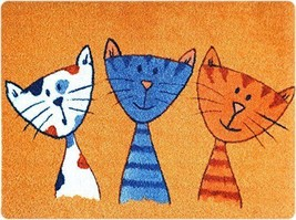 deco-mat Fußmatte Katze – Fussmatte Innen, Rutschfest, waschbar – Schmut... - $85.16