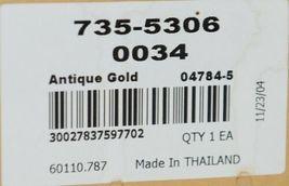 Kirsch Regency Collection 60110787 Antique Gold Beaded Trumpet Holdbacks image 5