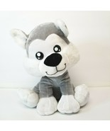 """Ideal Toys Direct Puppy Dog Plush Grey and White Approx 11"""" Stuffed Animal - $10.19"""