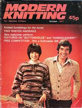 Modern Knitting for Machine Knitters Oct 1977 Magazine UK Home Furnishings - $9.99
