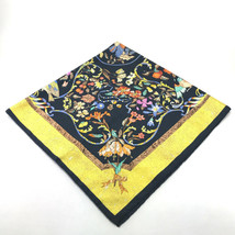 AUTHENTIC HERMES PIERRESD 'ORIENTETD' OCCIDENT Carre 90 Scarf Yellow Silk - $190.00