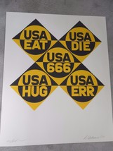 "Robert Indiana ""USA 666""  1971 Serigraph Hand S... - $3,910.50"