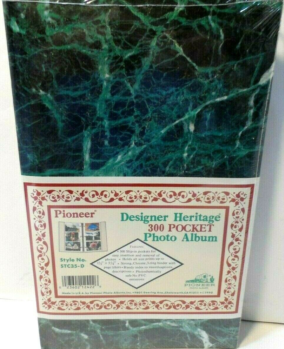 "Primary image for Pioneer STC35-D Photo Album Pocket 3-Ring Binder Album 3.5"" x 5.25"" Green NEW"