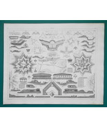 FIELD FORTIFICATIONS Design Open Works - 1844 Superb Print - $9.00