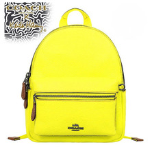 Coach MINI CHARLIE BACKPACK F11774 F11769 X Keith Haring f 58315 Yellow NWT - $128.00