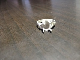 925 Sterling Silver Semi Mount Ring Setting  7 x 9 mm Oval Shape Stone A... - $9.99