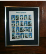 """Pacific Lighthouses Stamp Sheet 2006 20 Stamps #4146-50 Framed 8"""" x 10"""" ... - $16.44"""