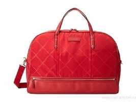 Travel Bag Vera Bradley Luggage Preppy Poly Tango Red Duffel  Versatile ... - $79.19