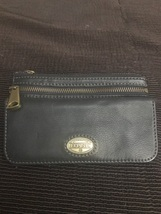 Authentic Fossil leather clutch wallet  - $33.00