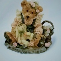 Bailey & Wixie To Have and to Hold Boyd's Bears Figurine Bearstones - $11.82