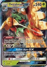 POKEMON Sun & Moon Ultra Prism #12/149 Decidueye GX Rare Holo - $6.89