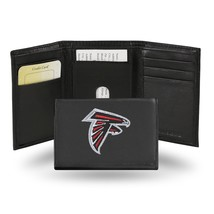 Atlanta Falcons Wallet Embroidered Trifold Official NFL RICO Leather Black - $33.45