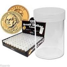 Round Small Dollar Coin Storage Tubes 26mm by BCW 100 pack - $43.99