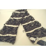 Ladies Women's Long Charter Club Soft & Cuddly Blk/Ivory Scarf, O/S - $26.73
