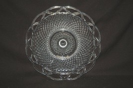"Old Vintage 50's Laced Edge Clear 9-1/4"" Luncheon Plate by Imperial Glas... - $24.74"