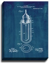 Heat-shield For Incandescent Electric Lamps Patent Print Midnight Blue on Canvas - $39.95+