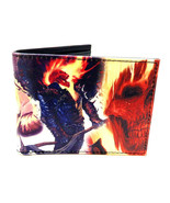 MARVEL COMICS GHOSTRIDER SUBLIMATED GRAPHIC PU FAUX LEATHER MENS BIFOLD ... - $14.20