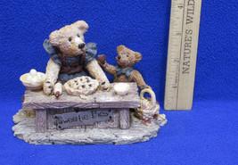 1993 Boyds Bears Sweetie Pie Baking Figurine w/ Friends Justina & M Harrison  - $12.22