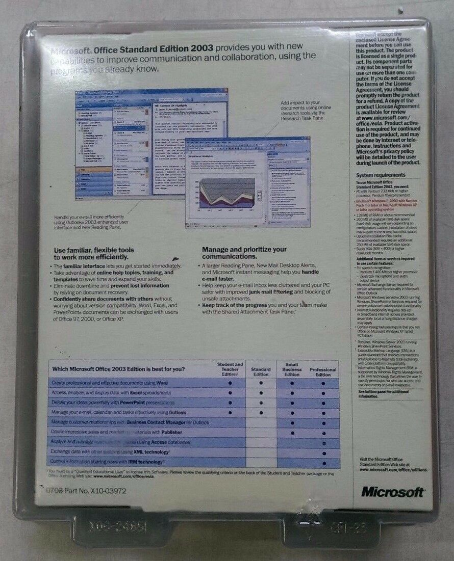 Microsoft Office Standard Edition 2003 Upgrade [OLD VERSION]