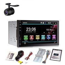 Double Din Car Radio Head Unit 7 Inch for Universal Car with Back Up Cam... - $102.28