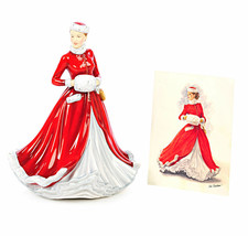 Royal Doulton Bonito Mujer Noelle Navidad Canadiense Punta Figura - $94.10
