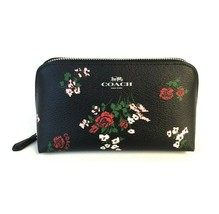 NWT COACH Cosmetic Case Pouch Travel Zip Bag Cross Stitch Floral Flower ... - $45.54
