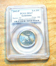 2002-P  PCGS Graded MS67 Louisiana State Quarter - $19.95