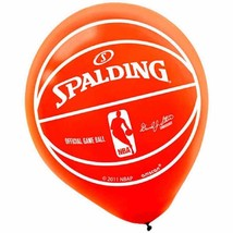 Spalding Basketball NBA Pro Orange Sports Party Decoration Latex Balloons - $6.17