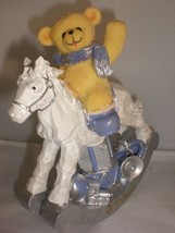 Holiday Teddy Bear Rocking Horse Baby Kids Room Decoration Gift South Be... - $13.09