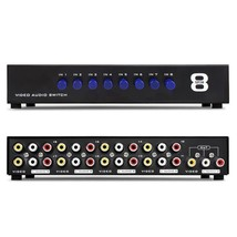 AV Switch Box Composite Selector 8 Port RCA 8 In 1 Out To TV Switcher Adapter - $45.50