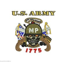 US Army Military Police Embroidered Polo Shirt Embroidered Gift - $34.95+