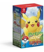 Nintendo Switch Pokemon Let's Go Pikachu Monster Ball Plus Set Pack Japa... - $116.88