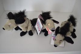 "Disney Store The Lion King Ed, Shenzi & Banzai, 8"" Plush Hyena Toy Beani... - $65.44"