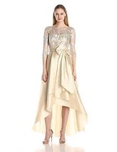 Adrianna Papell Women's Sequin Illusion High-Low Gown with Taffeta Skirt - $81.05+