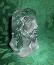 Viking Glass, Christ Bust in Crystal Satin - $23.00