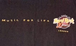 Hard Rock Cafe Music For Life 30 Years London Guitar World Tour List T Shirt L - $18.69