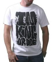 IM King Hombre Blanco Negro Uzi I'M Rey O Die Gráfico Camiseta Ee.uu. Hecho Nwt