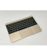 "MacBook A1534 MK4M2LL/A 2015 12"" OEM Top Case w/Keyboard Trackpad Gold 6... - $69.29"