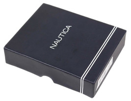 Nautica Men's Genuine Leather Credit Card Id Holder Trifold Wallet image 2