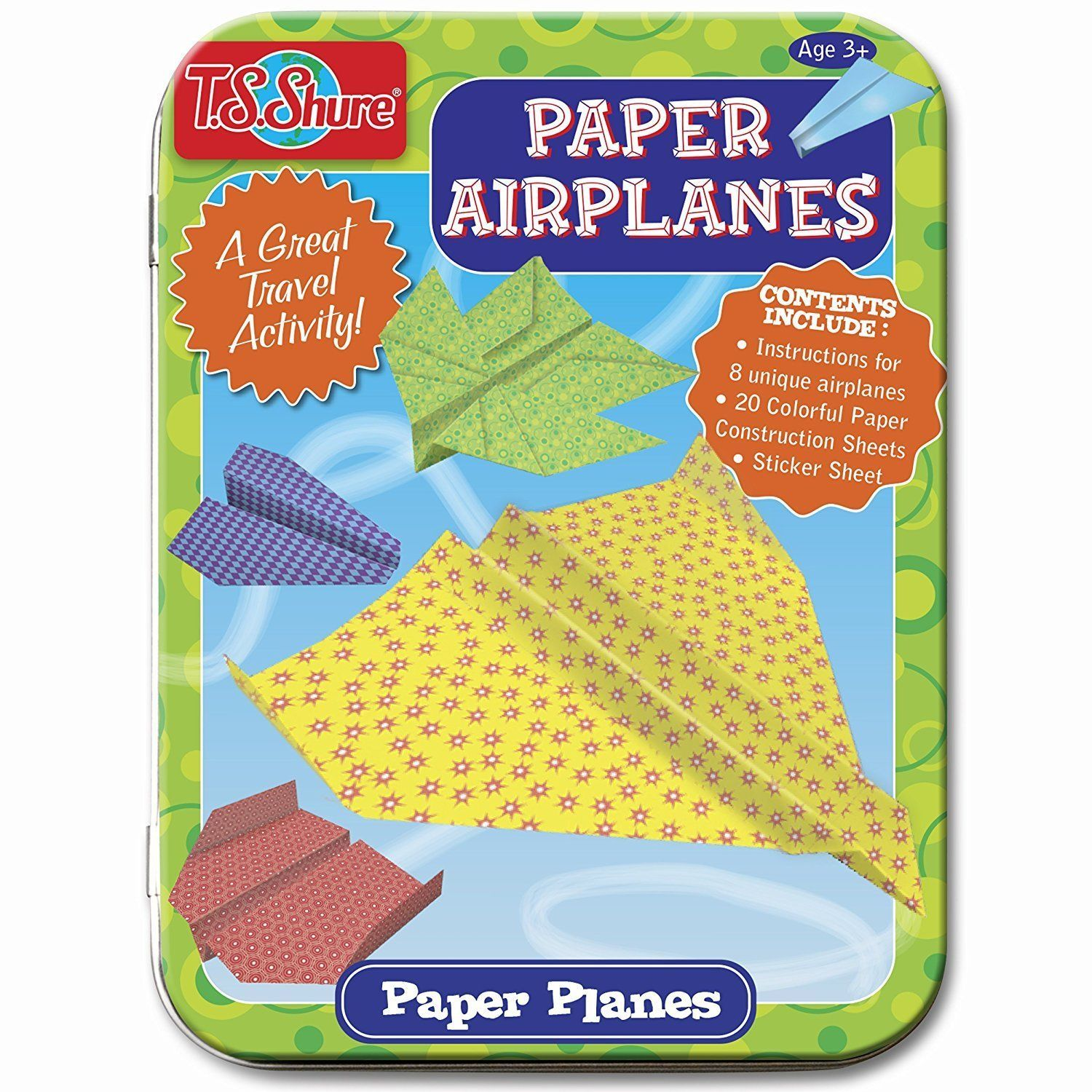 Primary image for T.S. Shure Paper Airplanes Creative Activity Mini Tin