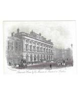 Somerset House Steel LIne Engraving 1851 J T Wood Views of London Print - $9.95