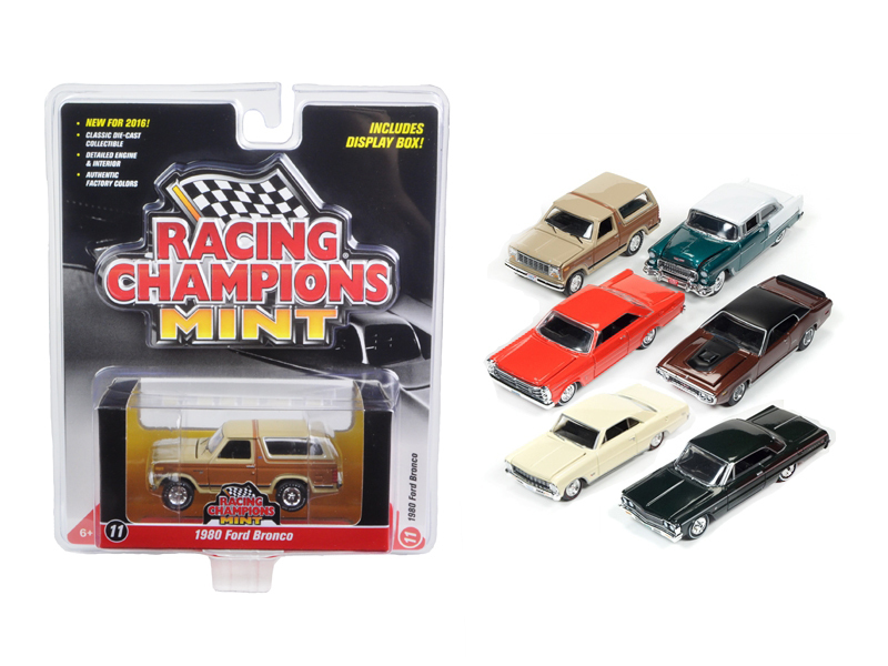 Mint Release 2 Set A Set of 6 cars 1/64 Diecast Model Cars by Racing Champions - $67.19