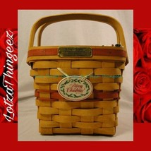 Longaberger Vtg. 1995 Collection Edition Cranberry Basket Holly Berry Liner - $32.07