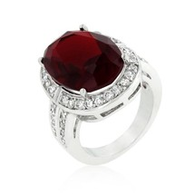 Ruby Red Cocktail Ring - $25.00