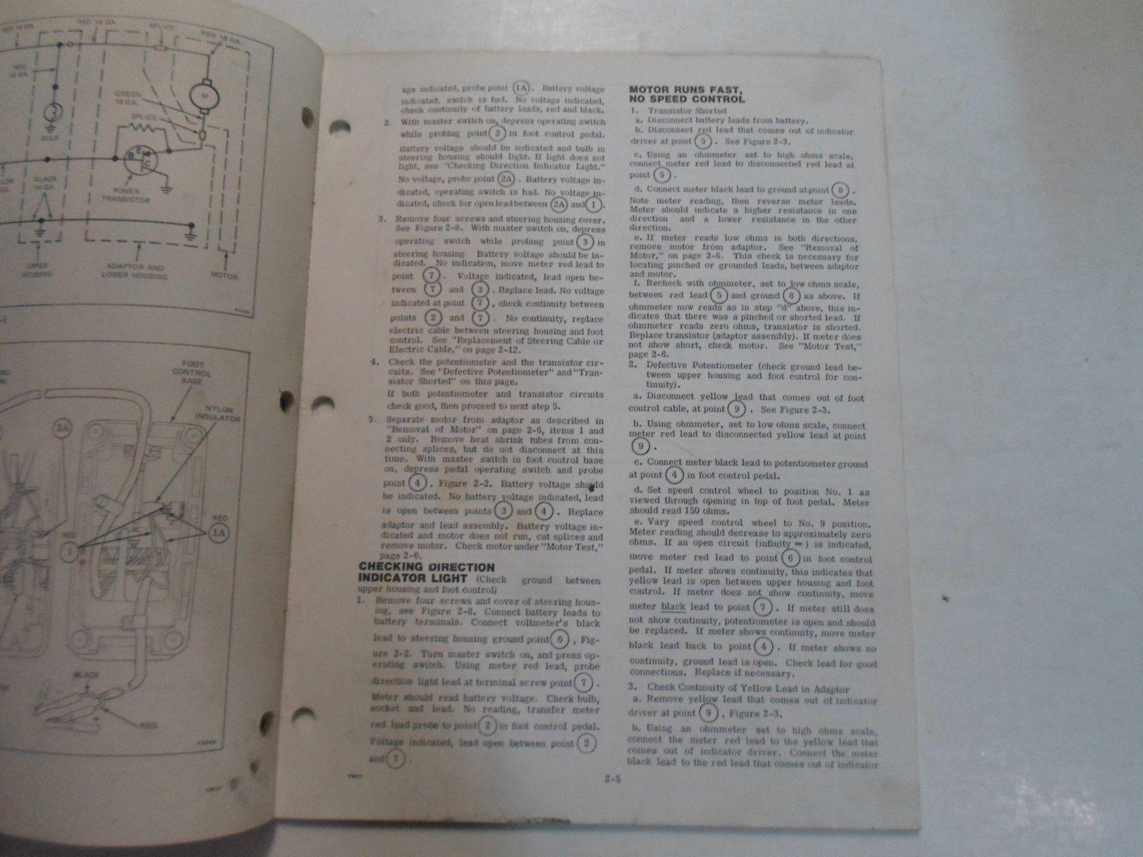 1977 Evinrude Service Shop Repair Manual Electric EB 52 54 82 84 OEM Boat WORN image 9