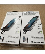 Lot of 2 Scosche MagicMount Portable Mounted Powerbank for Apple Devices  - $48.65
