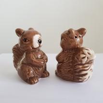 "Squirrel Salt & Pepper Shakers, Ceramic 2.5"" Woodland Animal Kitchen Accessory image 5"